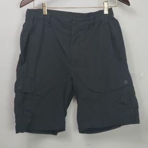 The North Face mens nylon gray cargo shorts sz S